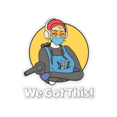 We Got This! Sunny D the Barber Fundraiser Kiss-Cut Stickers 4 sizes