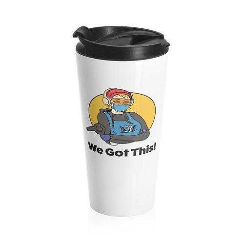 We Got This! Sunny D the Barber Fundraiser Stainless Steel Travel Mug