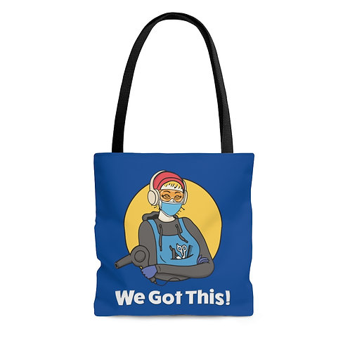 We Got This! Sunny D the Barber Blue Fundraiser AOP Tote Bag