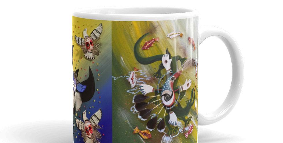 3-Paintings Ceramic Mug