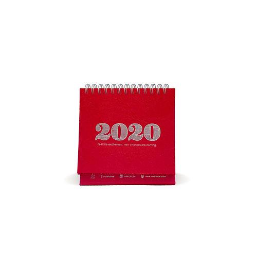 Classic Red Desk Calendar