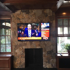 Need a TV mounted on a fireplace with th