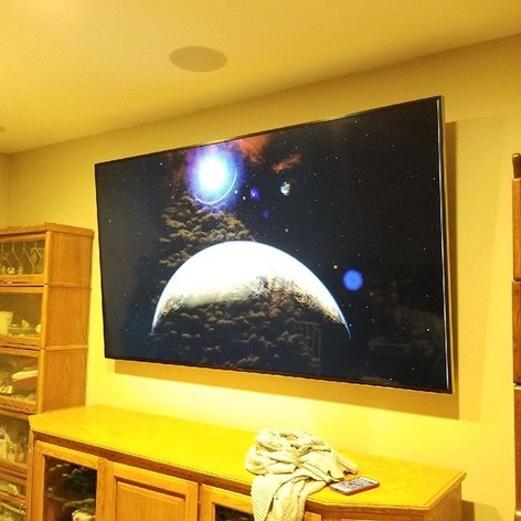 85 inch Samsung TV + Sonance in ceiling