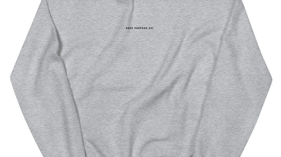Seek Purpose Co. Embroidered Unisex Sweatshirt