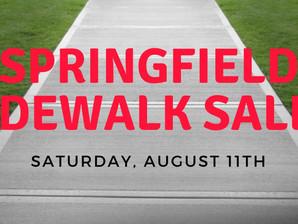 Springfield Sidewalk Sales – Saturday, August 11, 2018