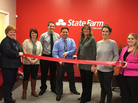 CHAMBER WELCOMES STATE FARM INSURANCE WITH RIBBON CUTTING