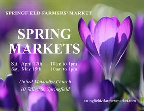 Springfield Farmers' Press Release: Indoor Farmers' Markets