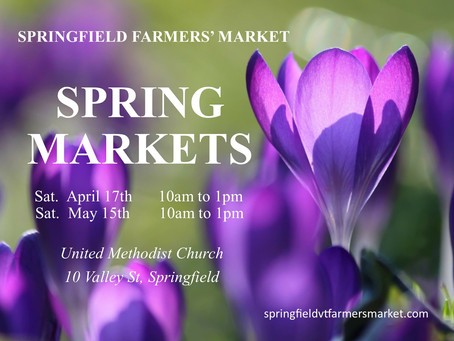 Springfield Farmers' Press Release: Indoor Farmers' Markets