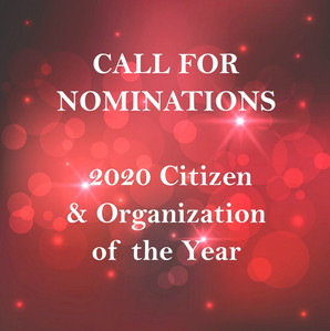Seeking Nominations for 2020 Citizen and Organization of the Year!