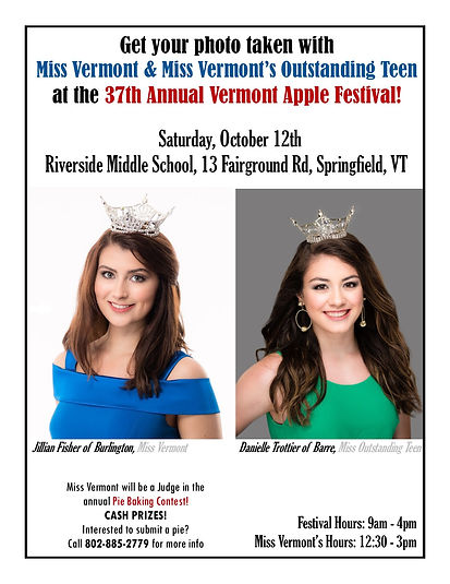 Miss Vermont and Miss Vermont Outstandin