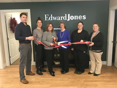 CHAMBER PERFORMS RIBBON CUTTING FOR NEW EDWARD JONES LOCATION