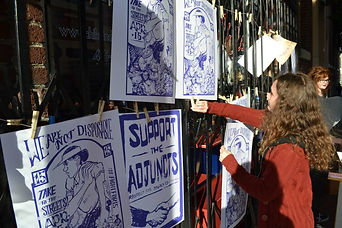 The student founded Poster Syndicate supports Bay Area Faculty  Photo: Jennie Smith-Camejo