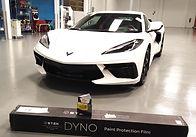 2020 Corvette C8 artic white with Stek Paint Protection Film and Gyeon Duraflex ceramic pro grade coating
