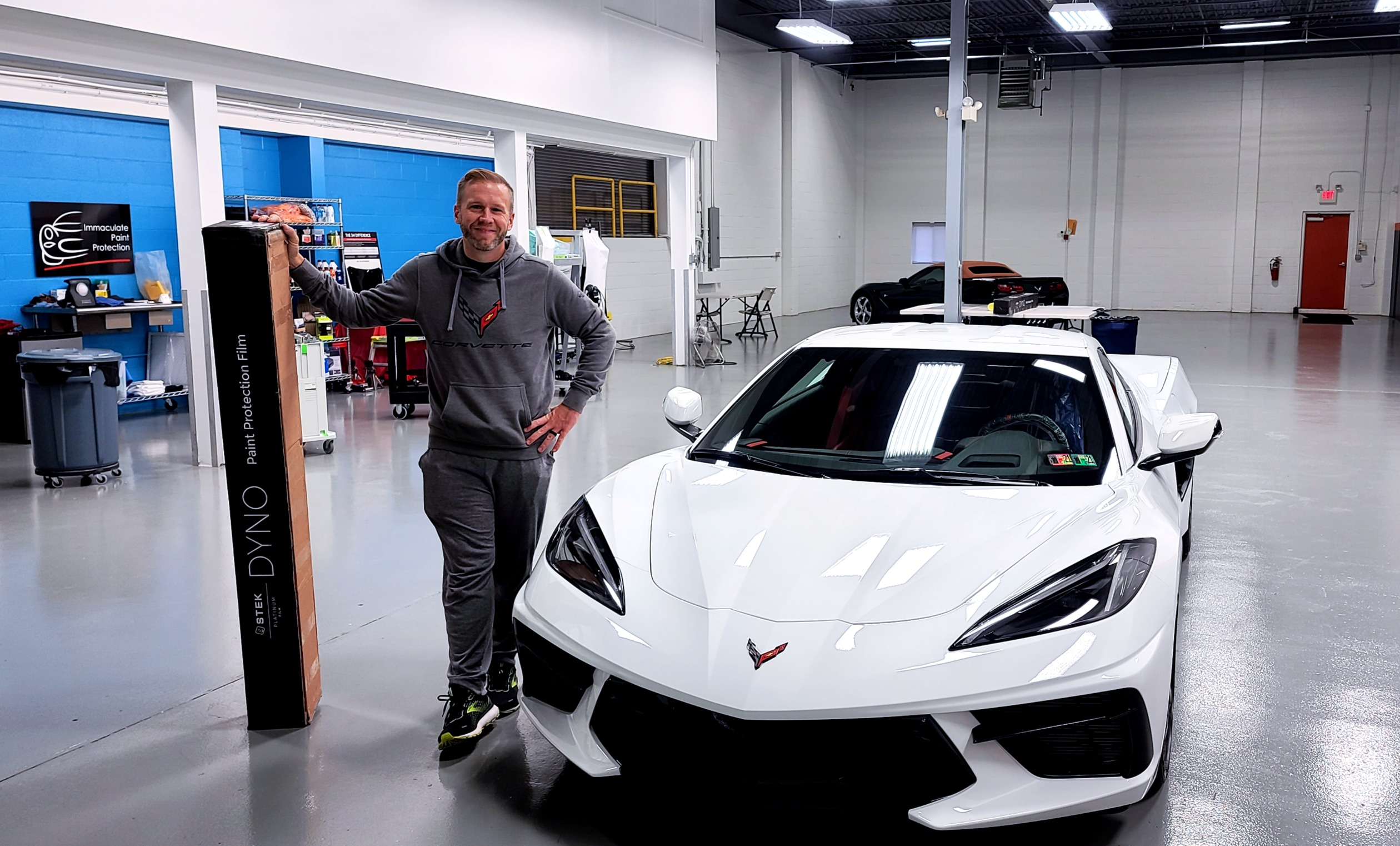 2020 C8 Corvette Stingray Arctic White Stek PPF + Ceramic Coating