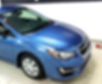 Subaru Imprez clear bra to protect the paint