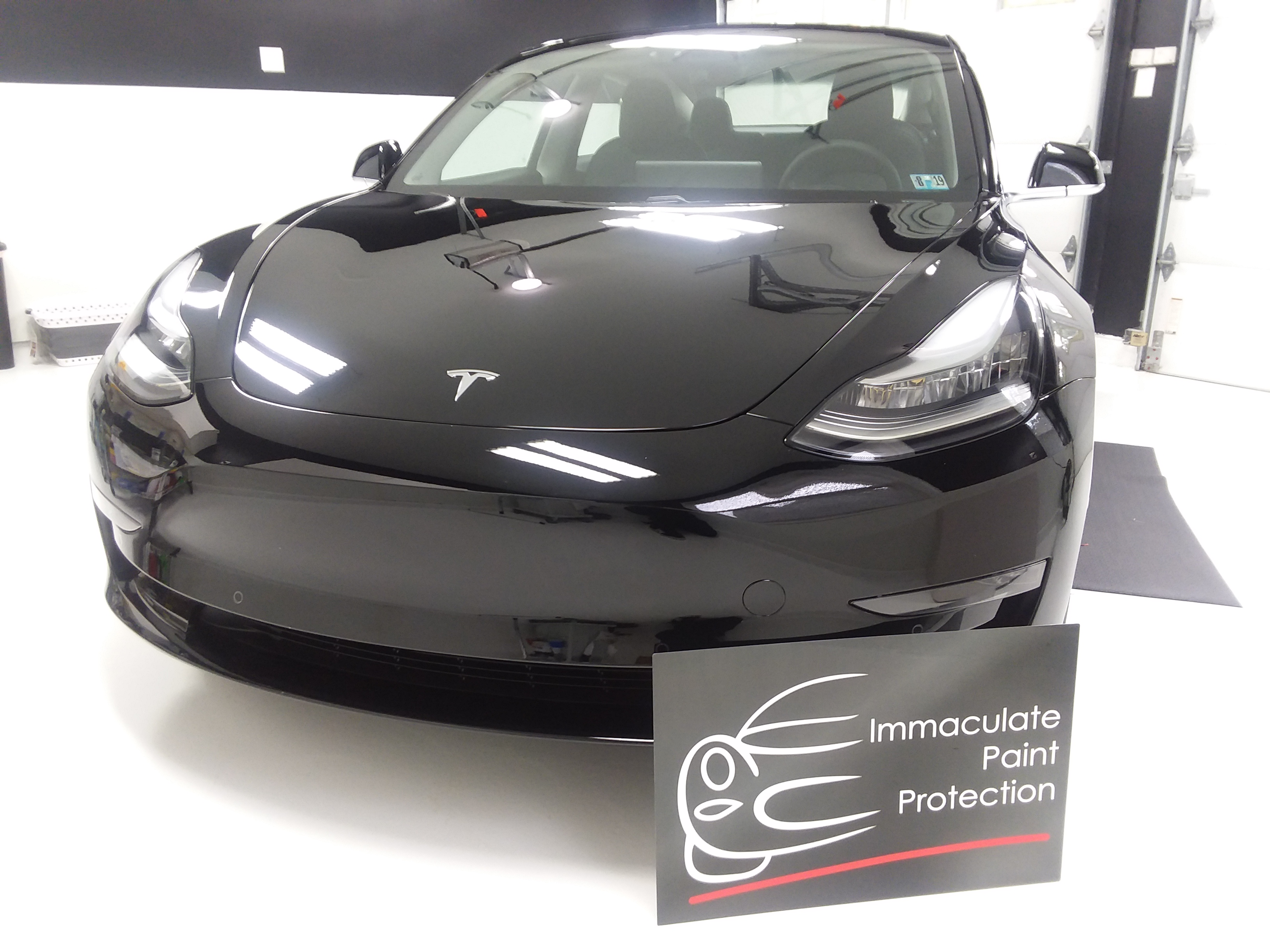 Black Tesla Model 3 Clear Bra 3M PPF