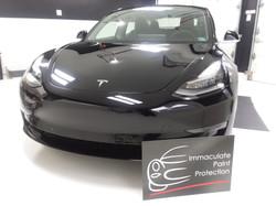Black Tesla Model 3 Clear Bra 3M PPF