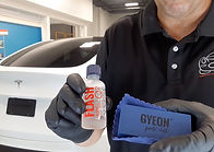 Gyeon Professional Ceramic Coating for a Tesla by Immaculate Paint Protection - Gyeon Flash on White Tesla Model Y