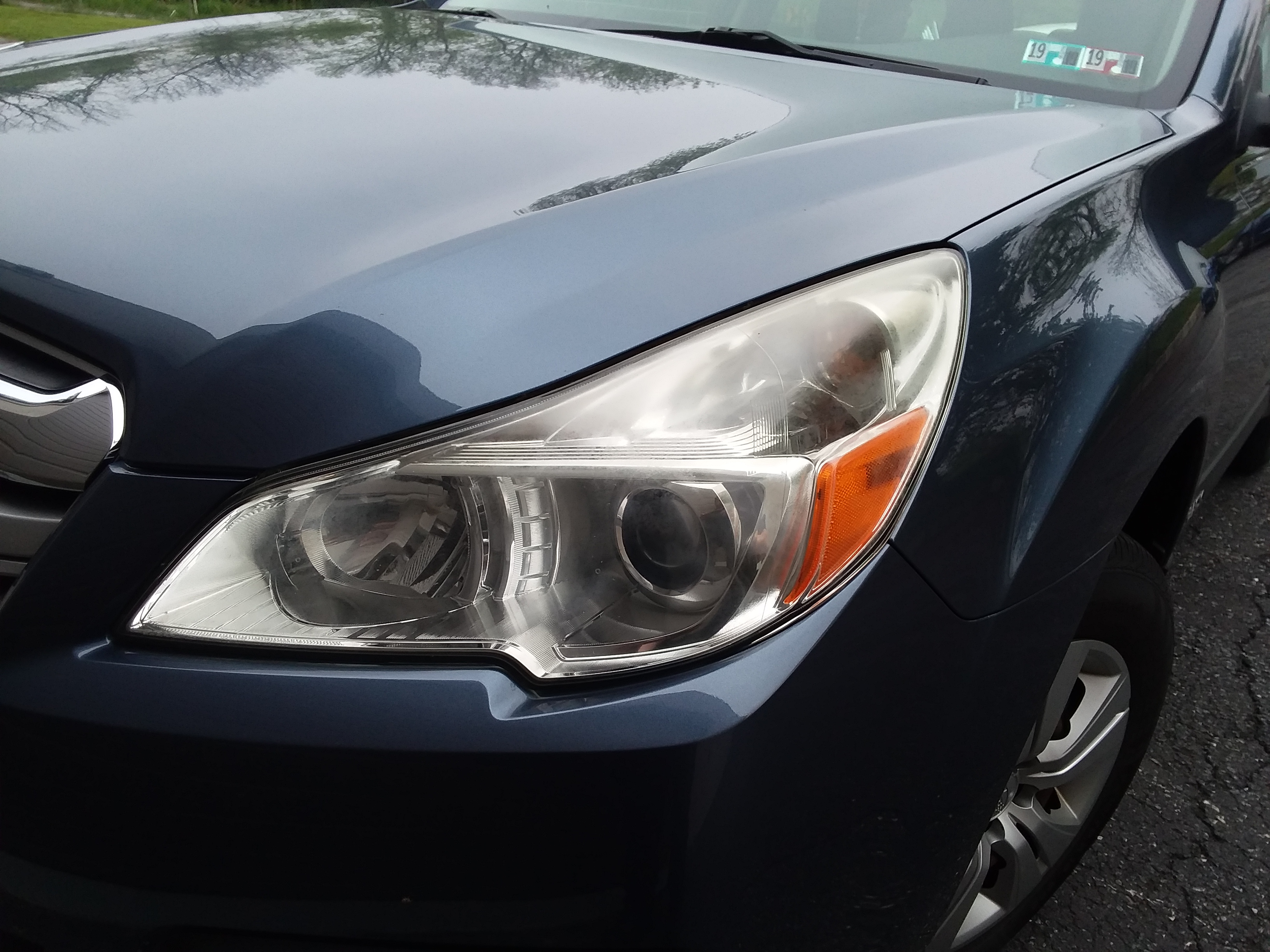 2013 Subaru Outback Faded Headlight