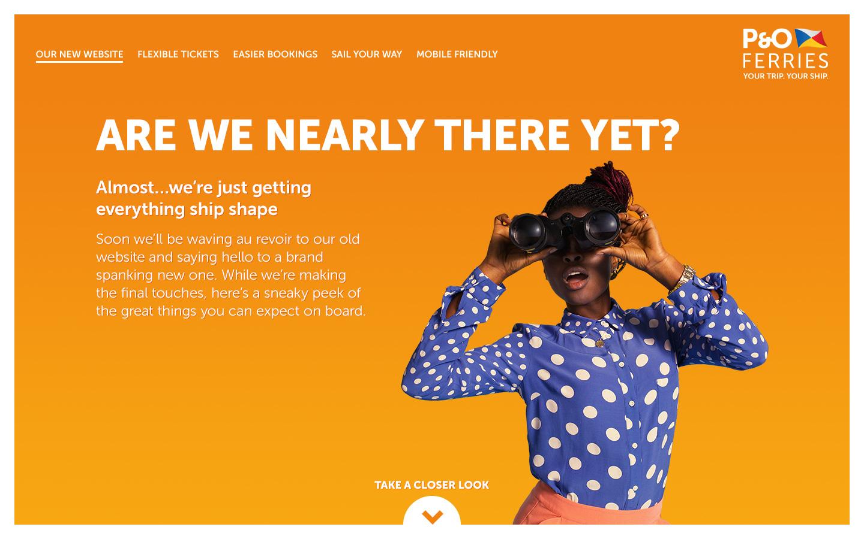 P&O website rebrand