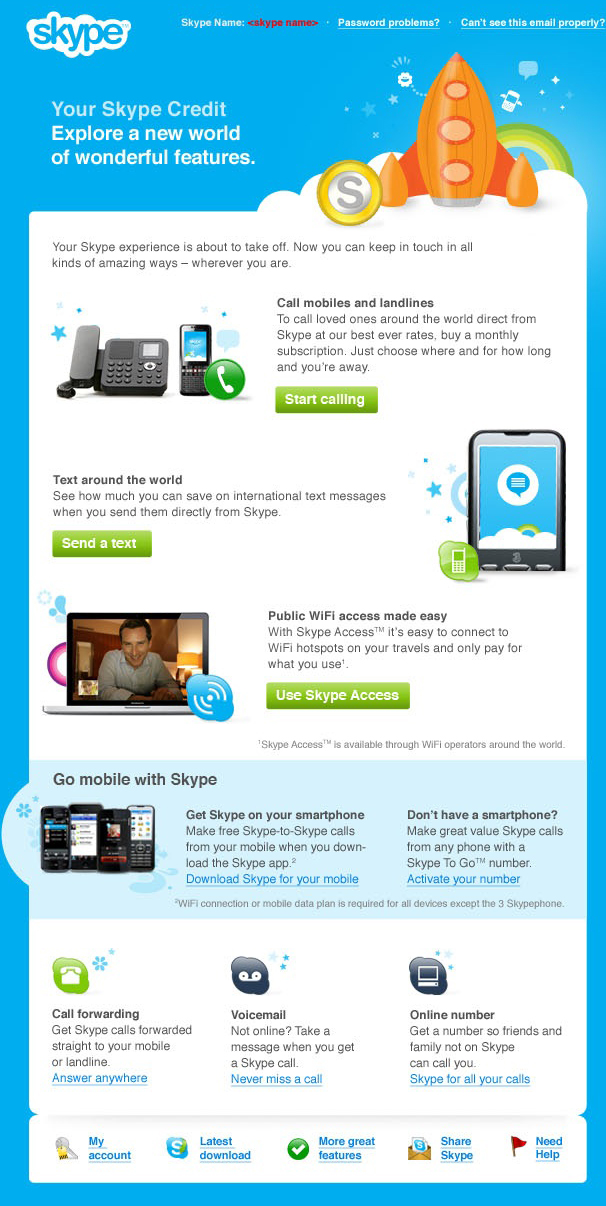 Skype email