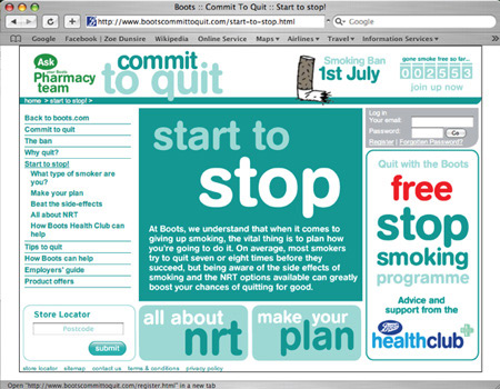 Boots microsite