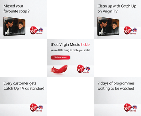 Virgin Media banner ads