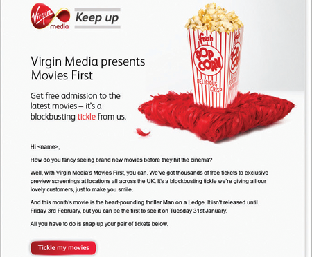 Virgin Media customer email