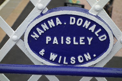 Detail on the stairway across the line at Pitlochry Station