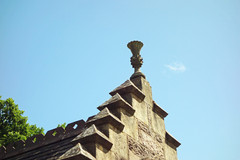 Decoration on the main building at Pitlochry Station