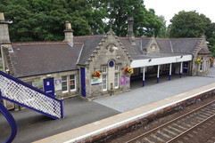Station buildings on the southbound platform at Pitlochry Station