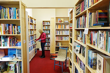 New shelves at Pitlochry Station Bookshop 2017