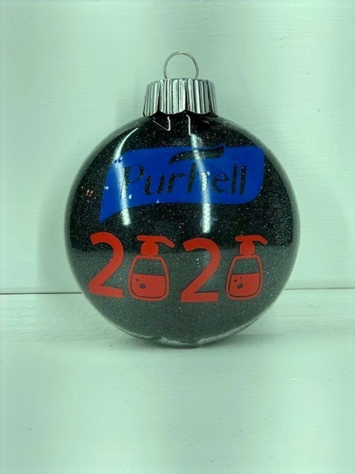 Thin Round 2020 Christmas Ornament