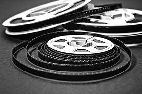 cine film conversion black and white film reel