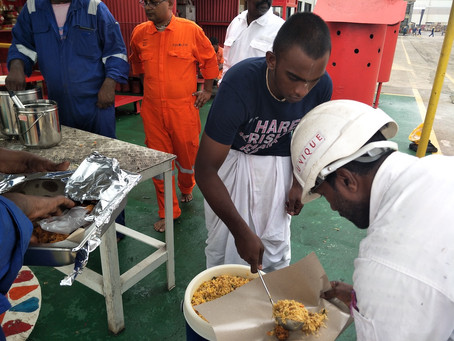 Free Food Distribution In Tuas Shipyard