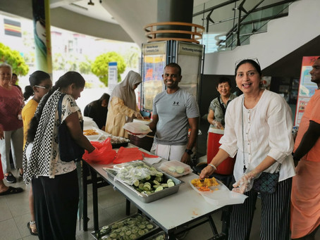 FREE FOOD DISTRIBUTION TO LOWER INCOME FAMILIES