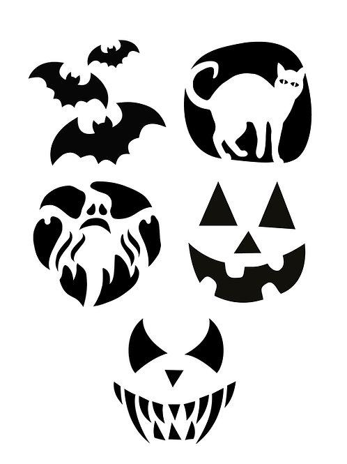 Halloween pumpastenciler