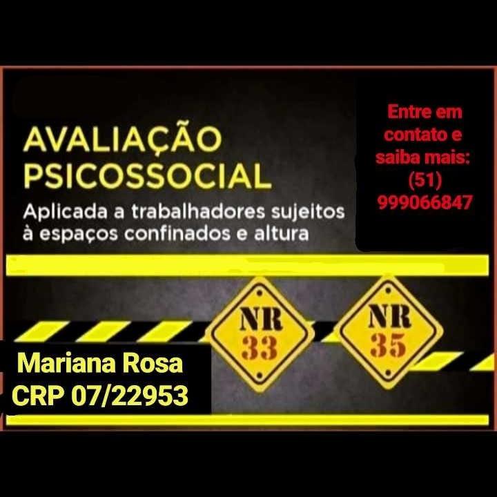 Avaliação psicossocial nr33 nr35