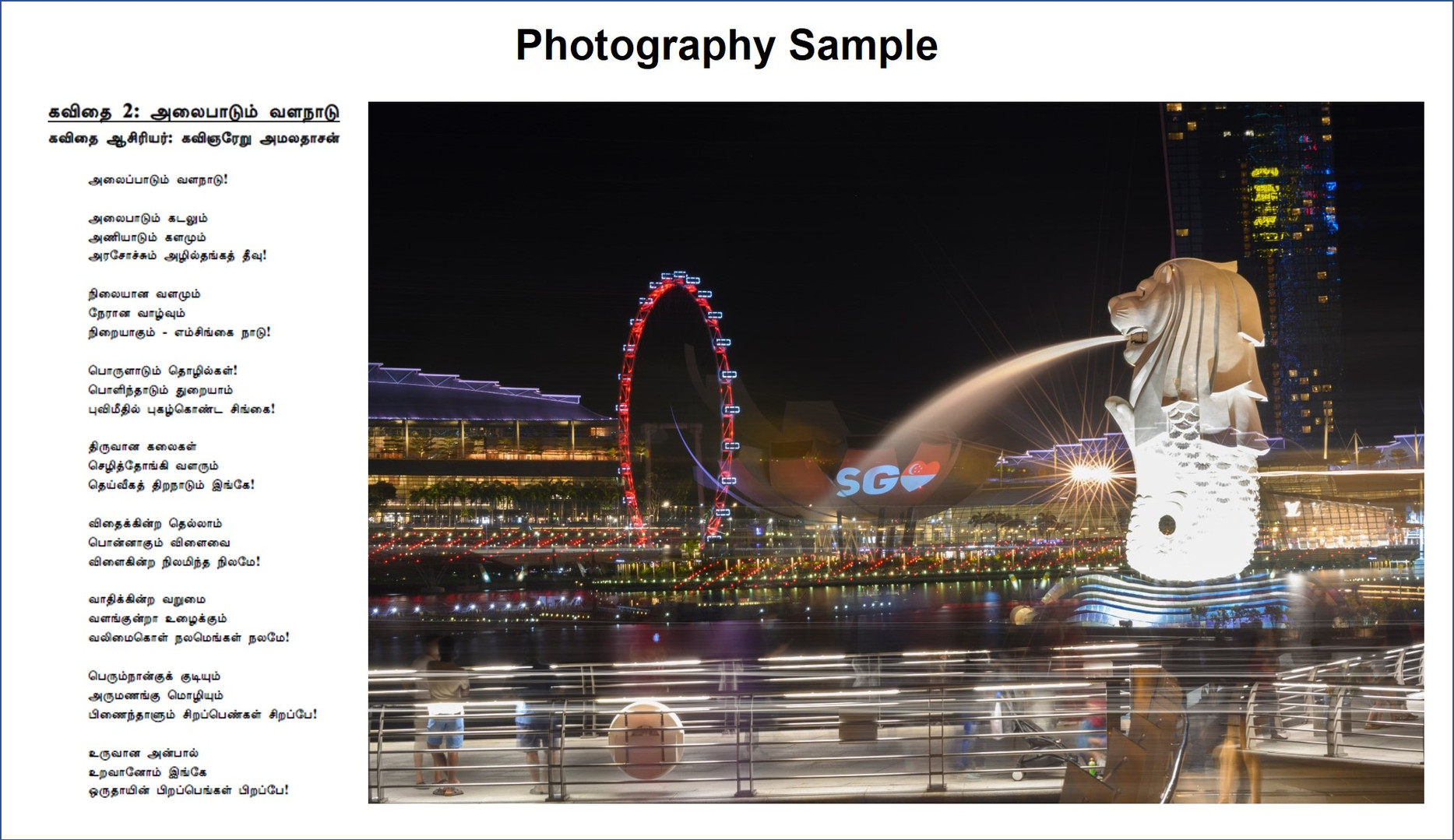 Photography Sample