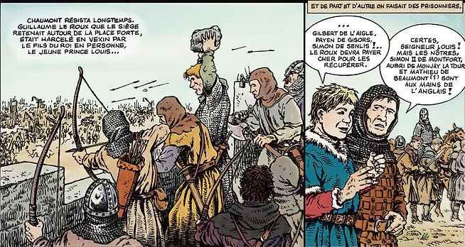 Le prince Louis le Gros défendant Chaumont en Vexin attaqué par Guillaume le Roux en 1097. chaumont _site.jpg