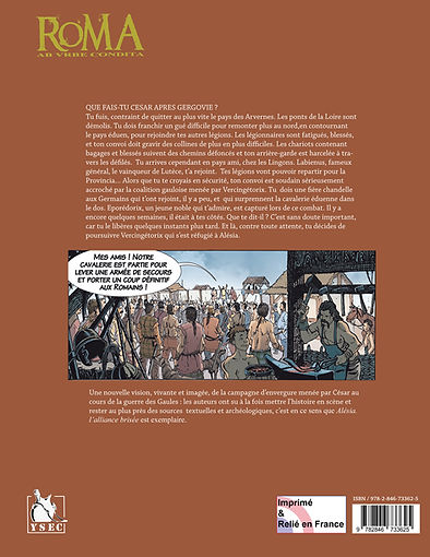 la quatrième de couverture de l'album BD Alésia , l'alliance brisée