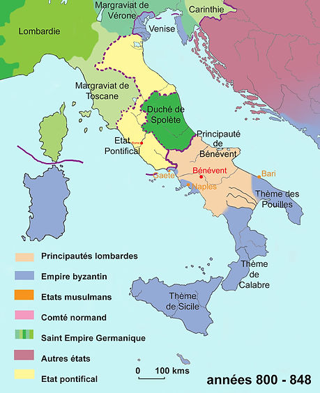 italie époque carolingienne (an 800)