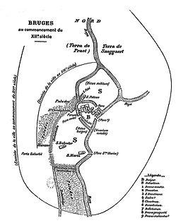 plan bruges XII eme siècle