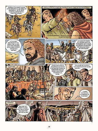 Robert Courteheuse en Ecosse avec Malcolm et Edgar Ætheling