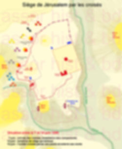 Siège de Jerusalem- carte phase A