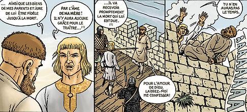 Henri Beauclerc châtie Conan, l'auteur de la révolte contre le duc Robert Courteheuse en 1090 à Rouen.