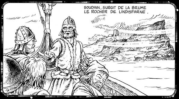 793, les vikings attaquent Lindisfarne