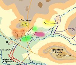 siège d'Alésia secteur Nord-Est