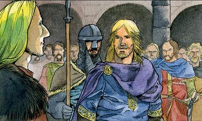 Richard Cœur de Lion et Othon de Brunswick.