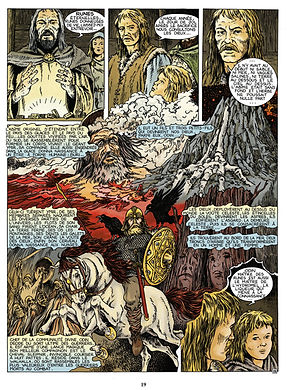 mythologie scandinave : Odin monté sur Sleipnir